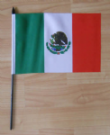 Mexico Country Hand Flag - Medium.